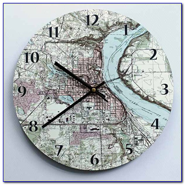 Personalised Map Location Clock