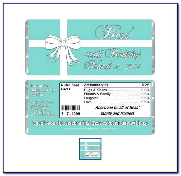 Personalized Candy Wrappers Template For Free
