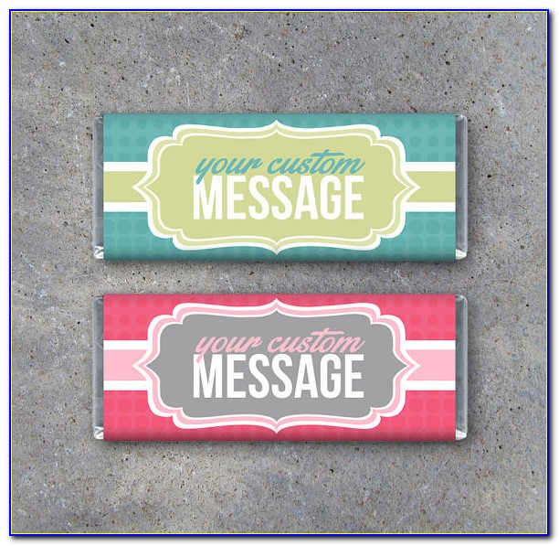 Personalized Candy Wrappers Zebra Print