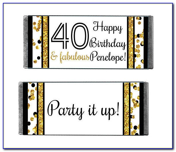Personalized Chocolate Bar Wrappers Template