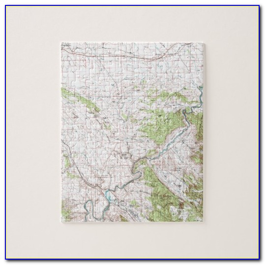 Personalized Topographic Map Jigsaw Puzzle