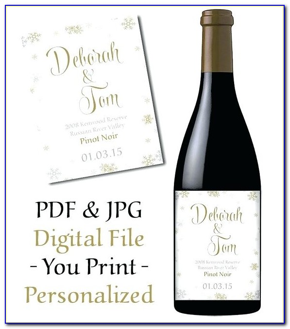 Personalized Wine Label Template Free