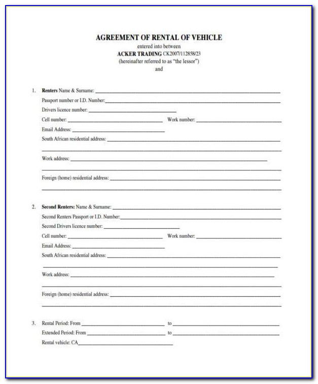 Pet Addendum To Lease Agreement Template