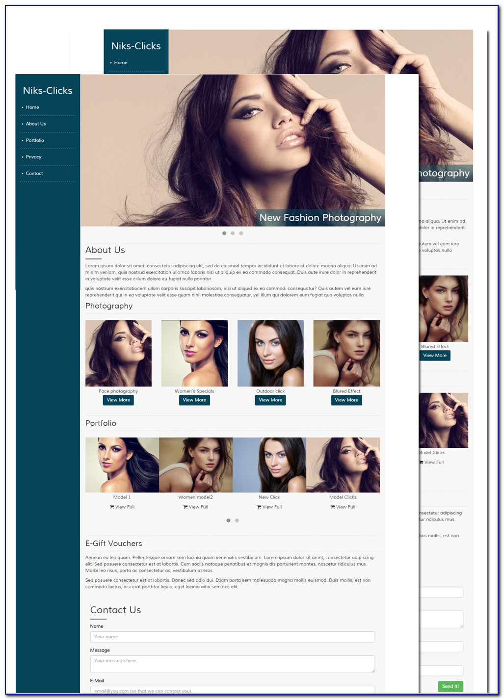 Photographer Website Templates Free Download