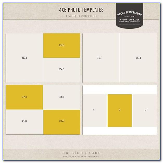 Photoshop 4×6 Collage Template