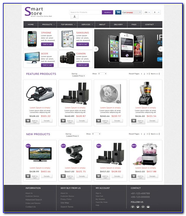 Php Ecommerce Websites Templates Free Download