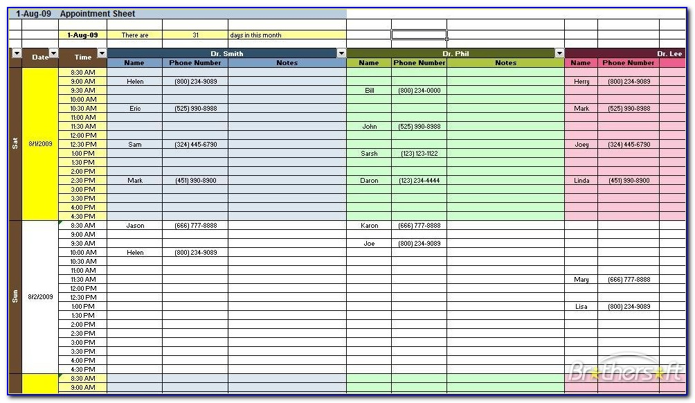 Physician Appointment Scheduling Template