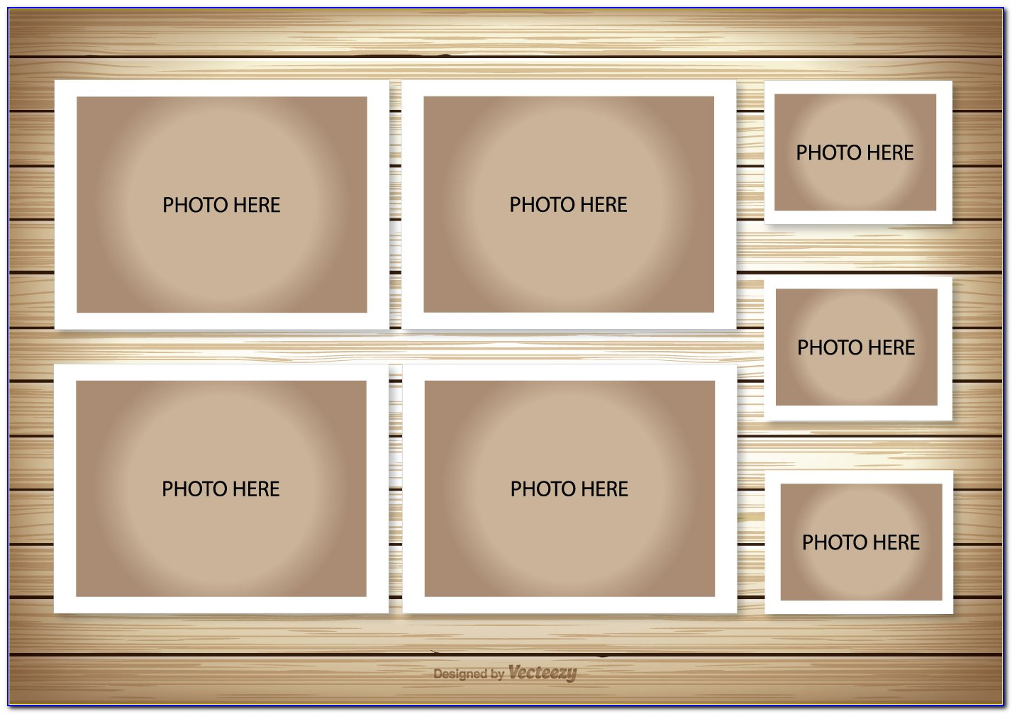 Picture Frame Collage Template For Wall