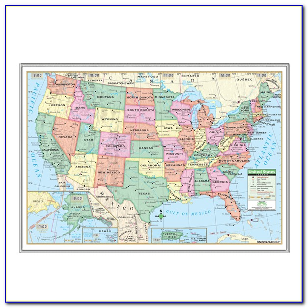 Picture Frame Map Of United States