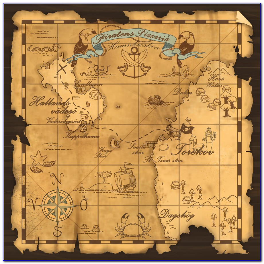 Pictures Of Old Pirate Treasure Maps