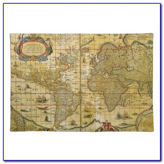Pimpernel Vintage World Map Placemats
