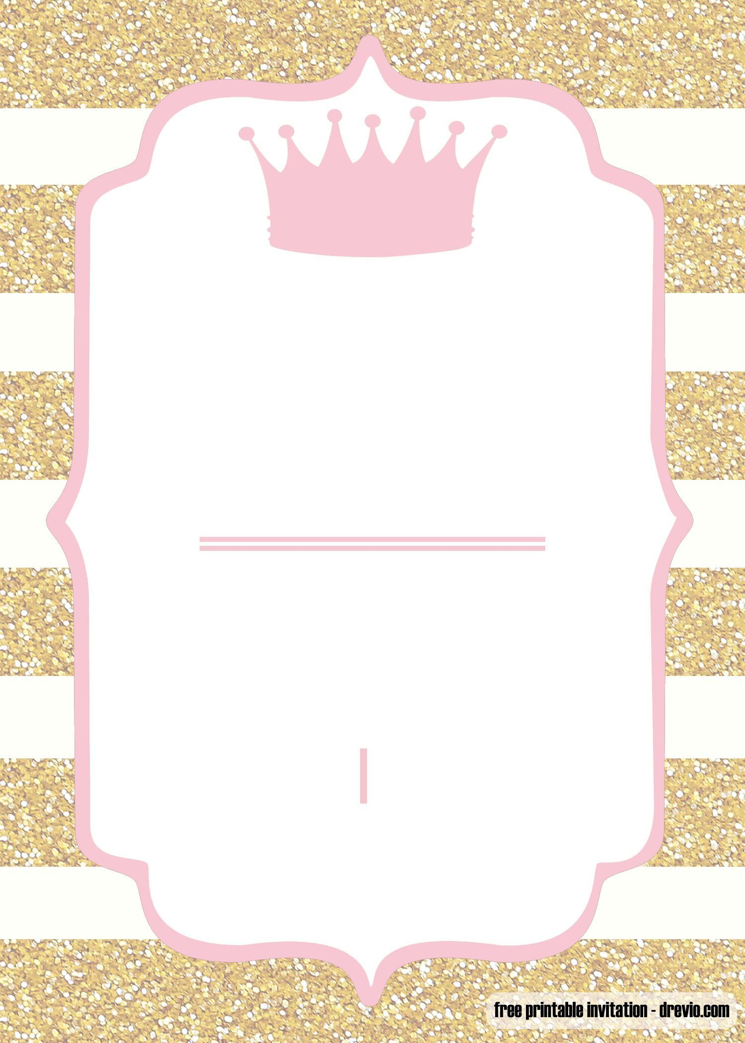 Pink And Gold Baby Shower Invitation Templates