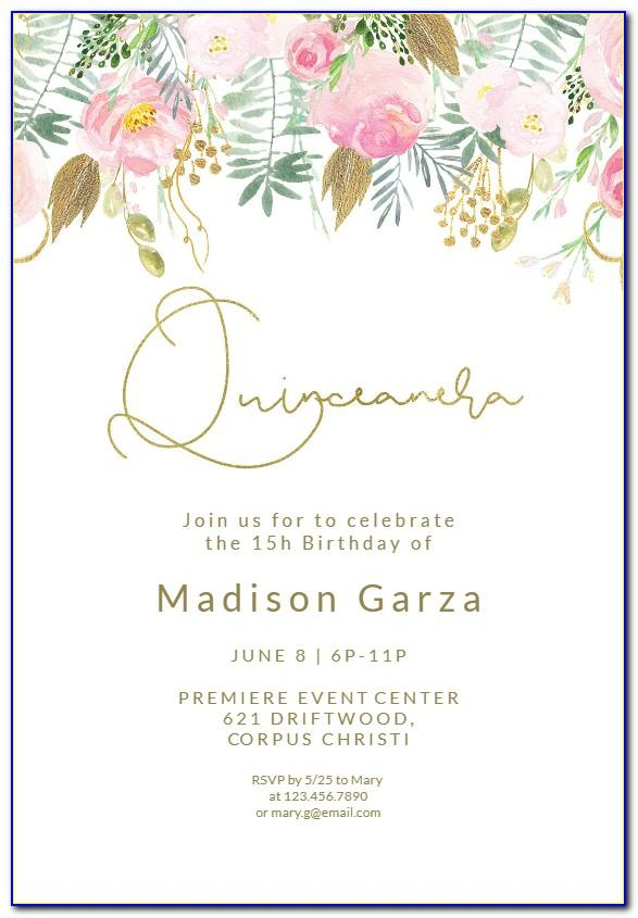 Pink And Gold Baby Shower Invitations Templates Free