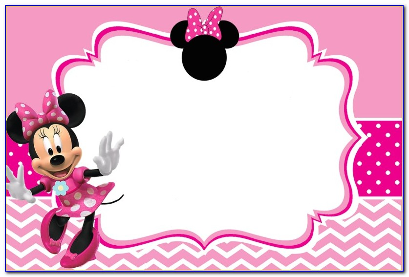 Pink And Gold Minnie Mouse Baby Shower Invitations Templates
