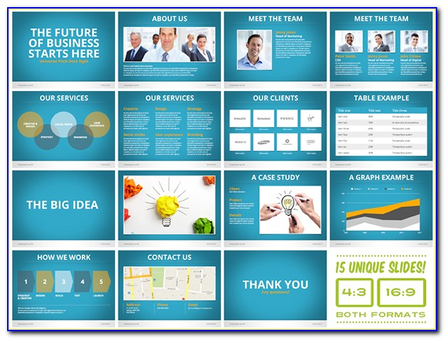 Pitch Deck Template Powerpoint Sample