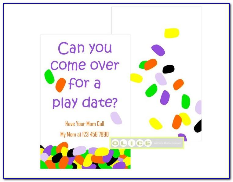 Play Date Card Template