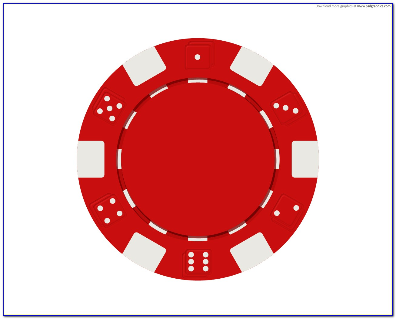 Poker Chip Inlay Template