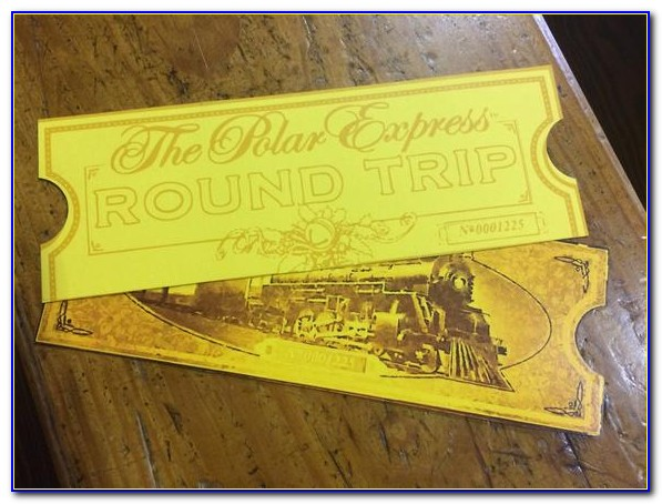 Polar Express Golden Ticket Template