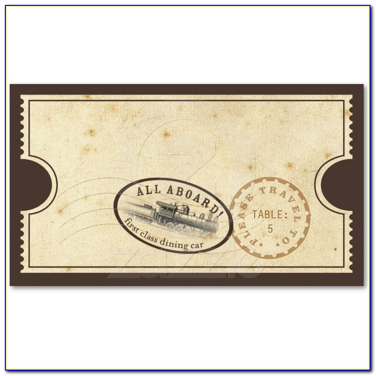 Polar Express Train Ticket Template