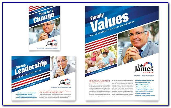 Political Campaign Free Flyer Template
