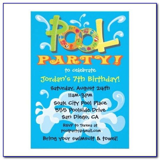 Pool Party Invitation Designs