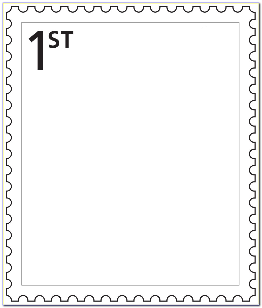 Postage Stamp Template Free Download