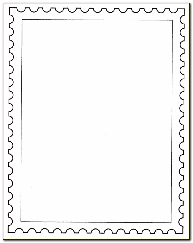 Postage Stamp Template Vector Free