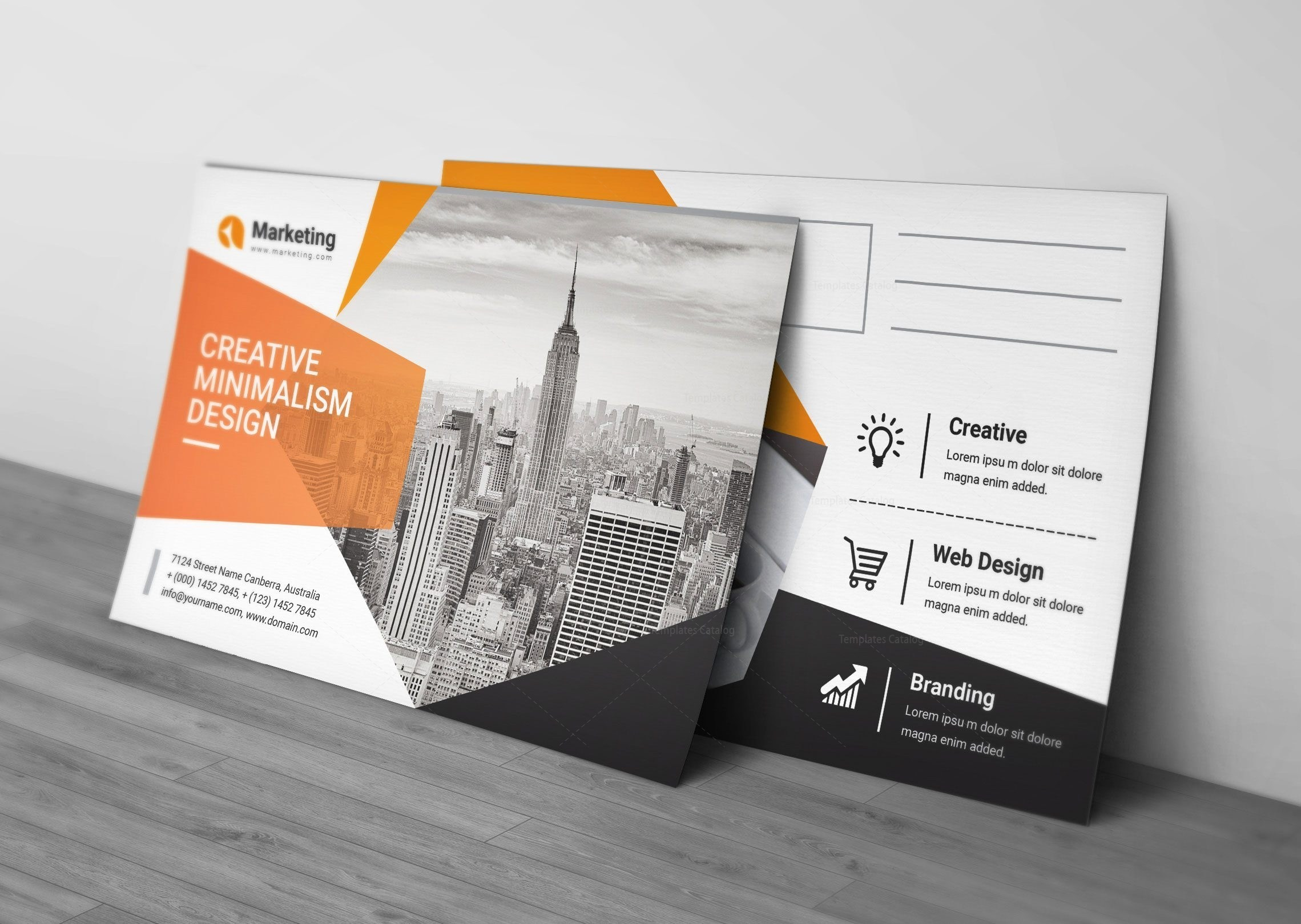 Postcards Template Psd