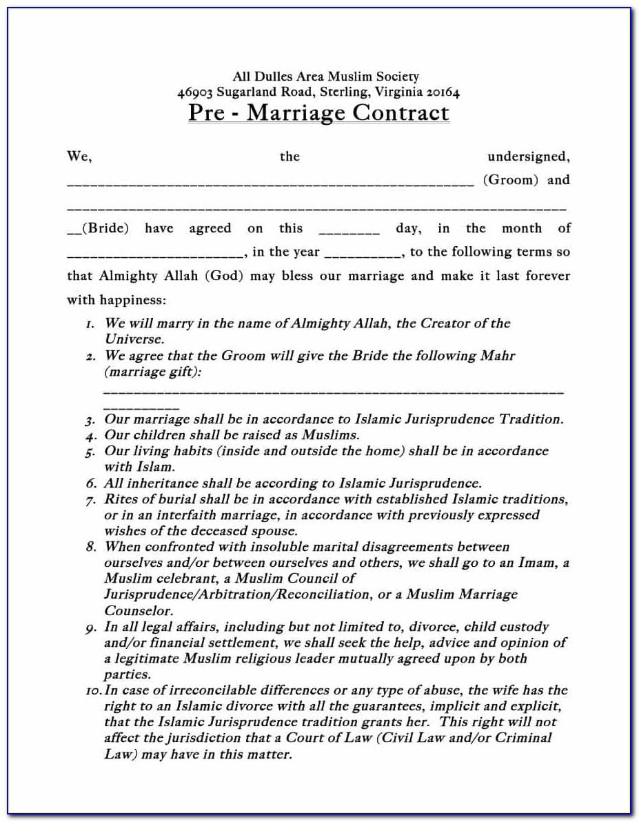 Postnuptial Agreement Template California