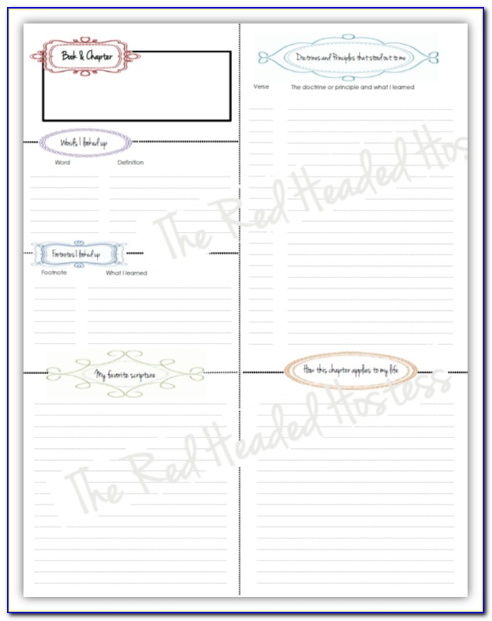 Prayer Journal Template For Adults