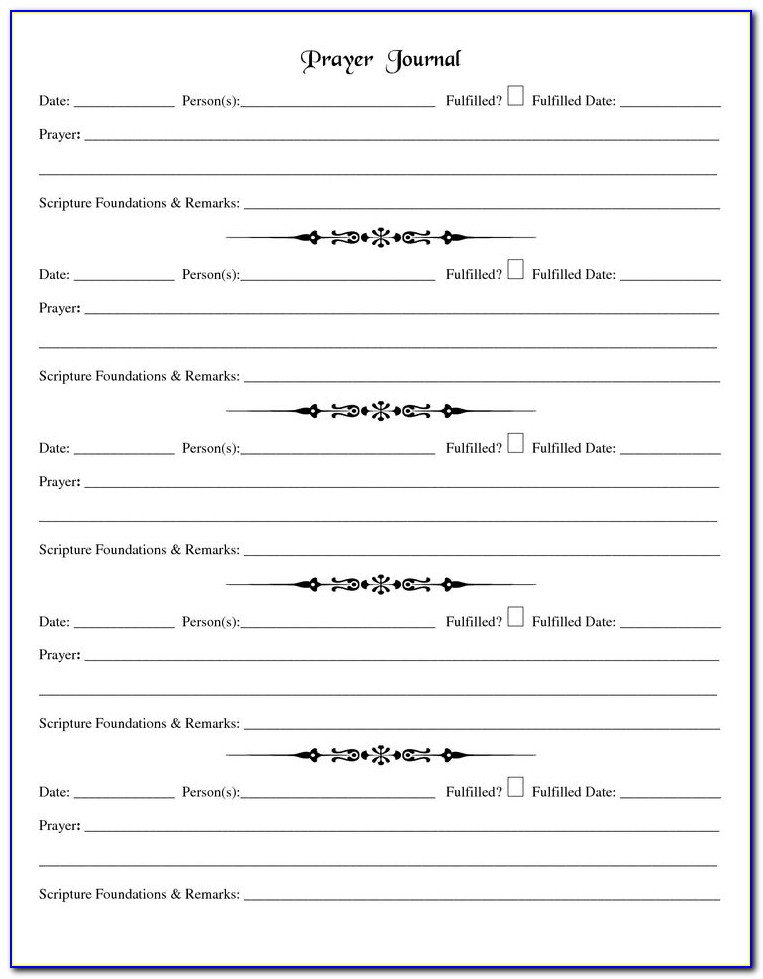 Prayer Request Form Template