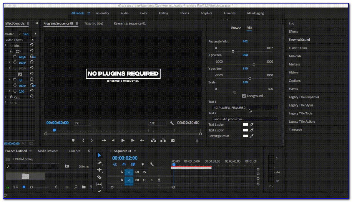Premiere Pro Templates Free Modern Titles Pack