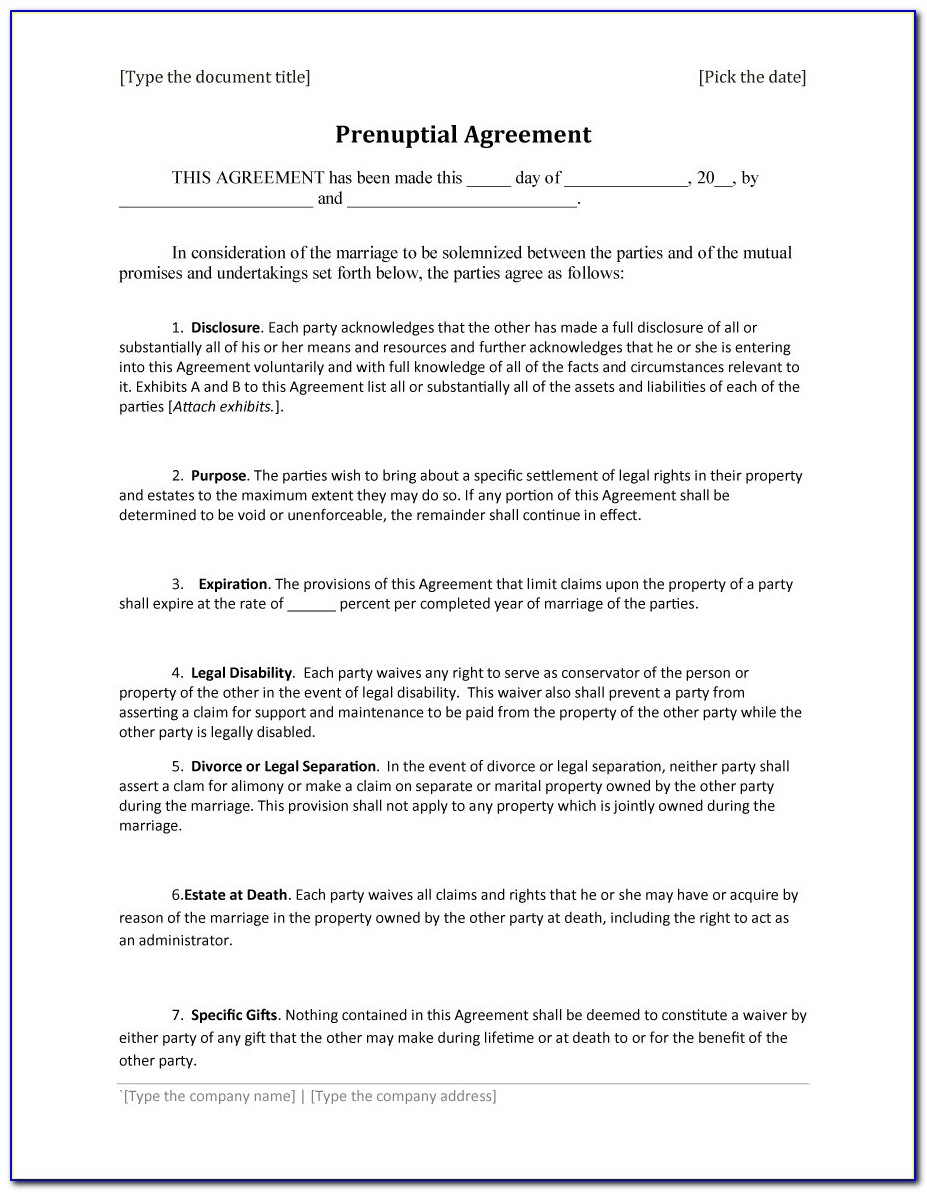 Prenup Agreement Template Uk