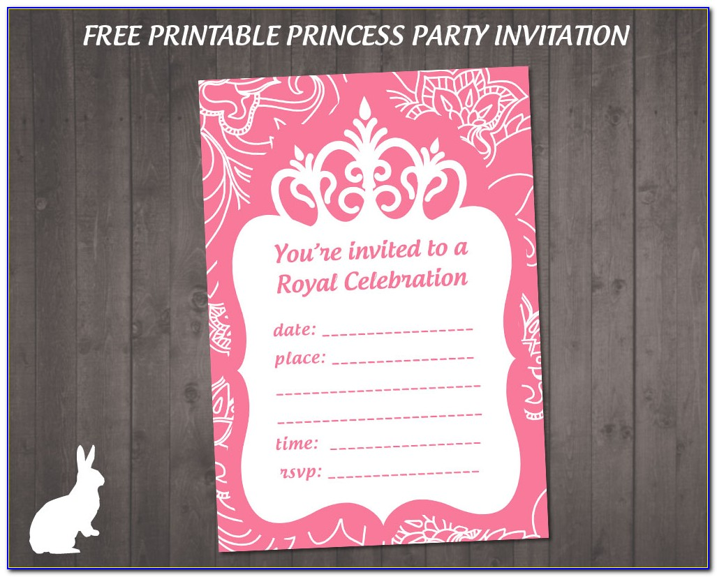 Princess Birthday Party Invitation Templates Free Download