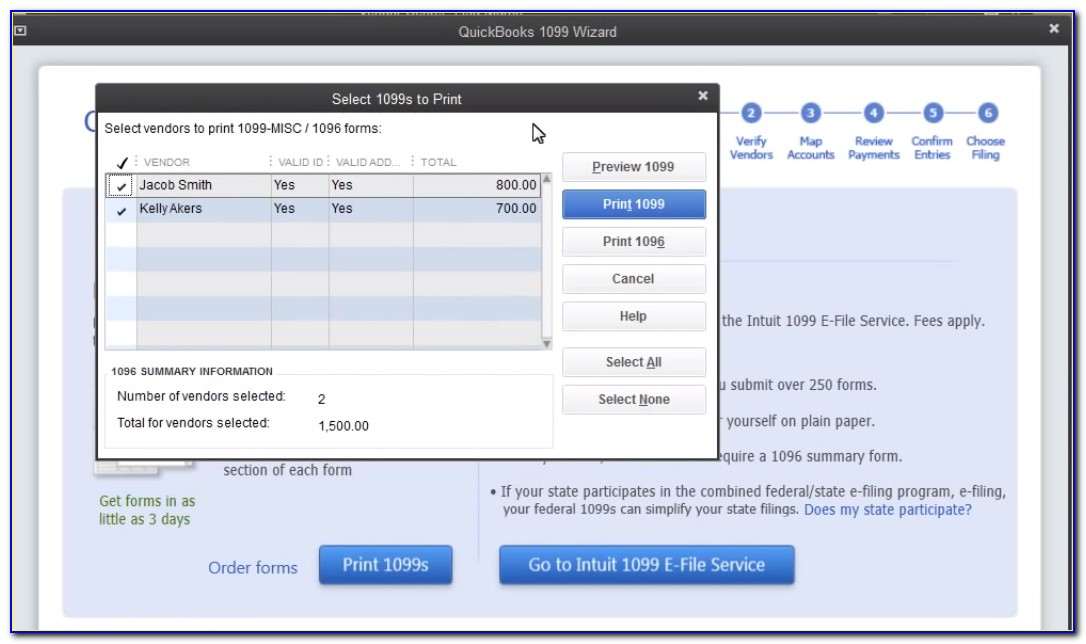 Print 1099 Forms Quickbooks Online