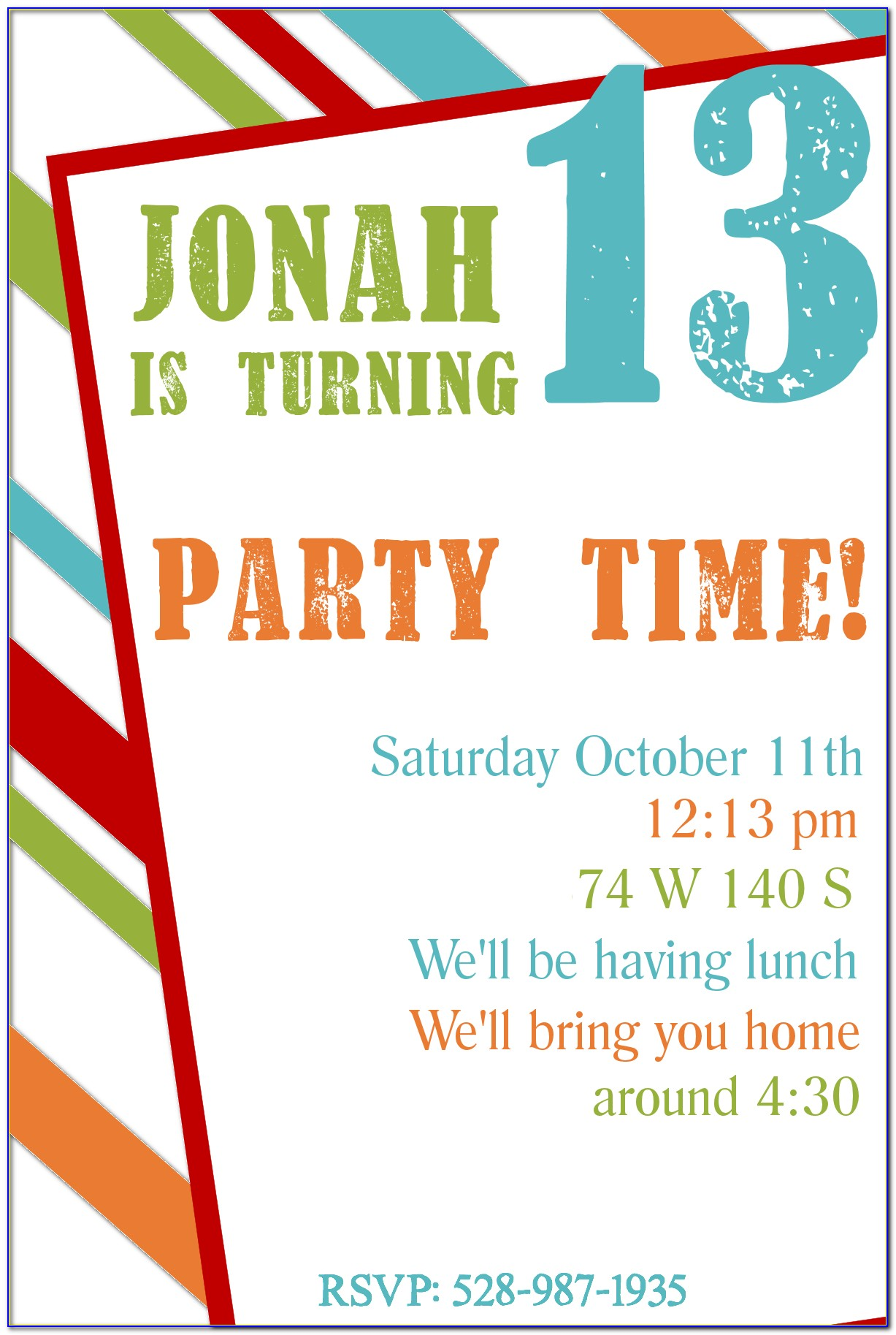 Printable 7th Birthday Invitation Templates For Boy