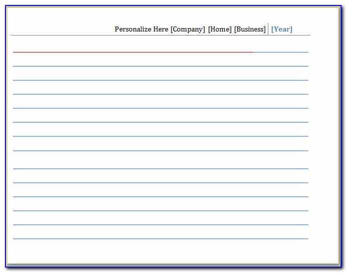 Printable Blank Note Card Template