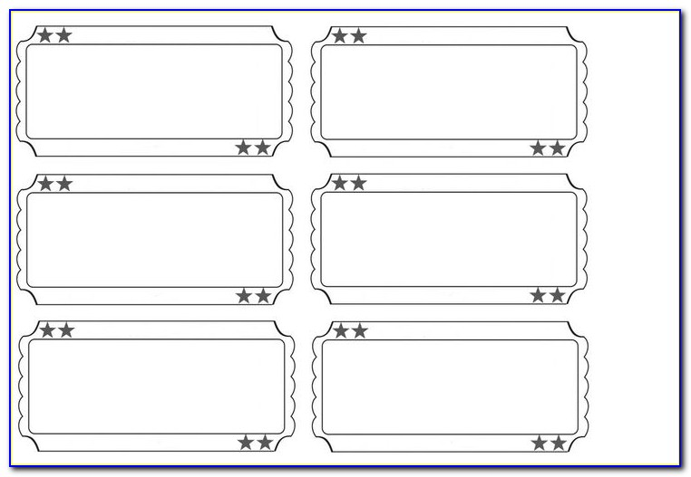 Printable Diaper Raffle Ticket Template