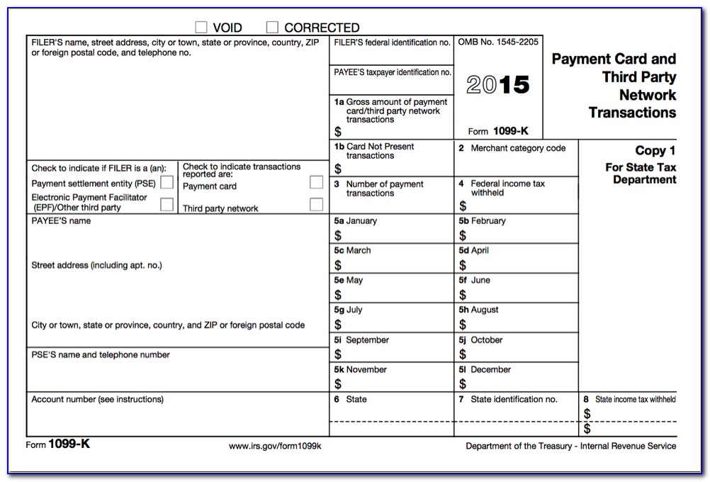 Printable Form 1099 Misc 2015