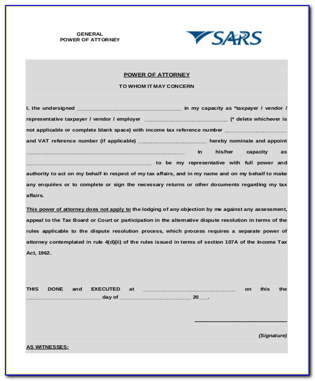 Printable General Durable Power Of Attorney Form
