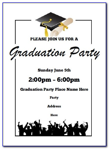 Printable Graduation Party Invitation Templates Free