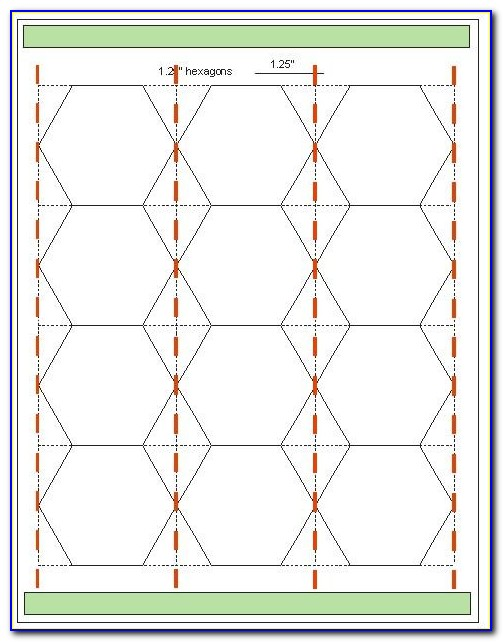 Printable Hexagon Templates For English Paper Piecing