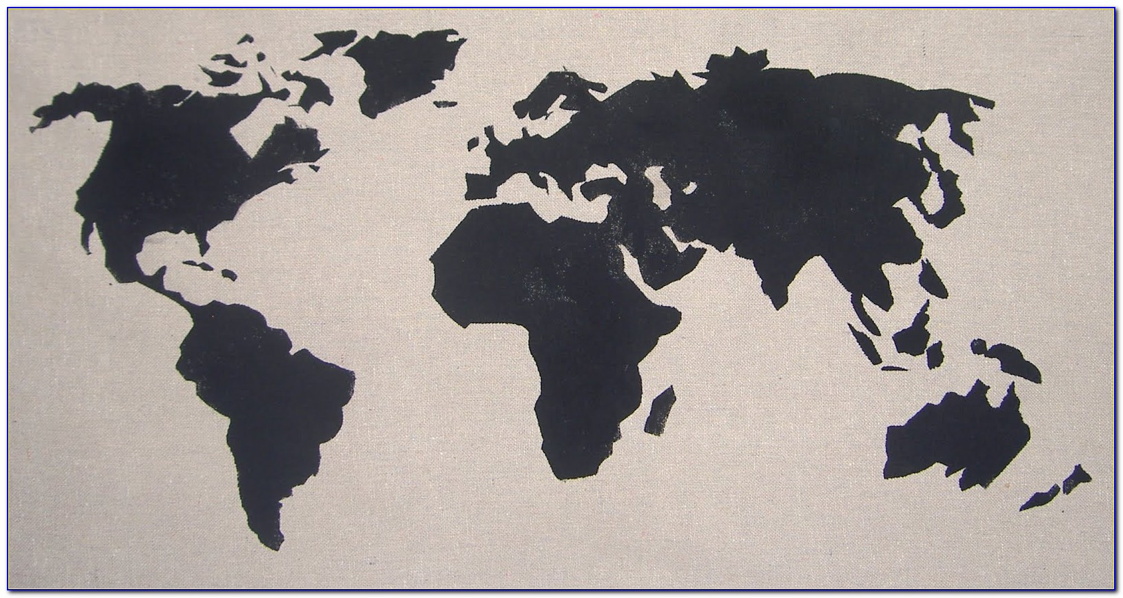 Printable Map Of The World Stencil