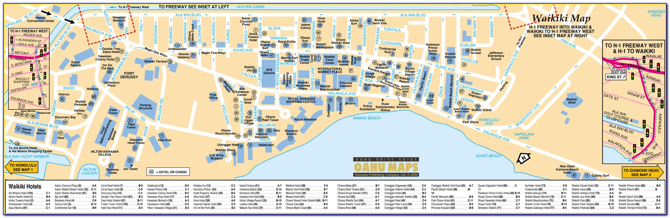 Printable Map Of Waikiki Hotels