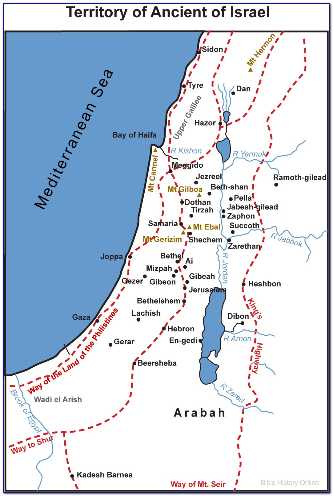 Printable Maps Of Ancient Israel