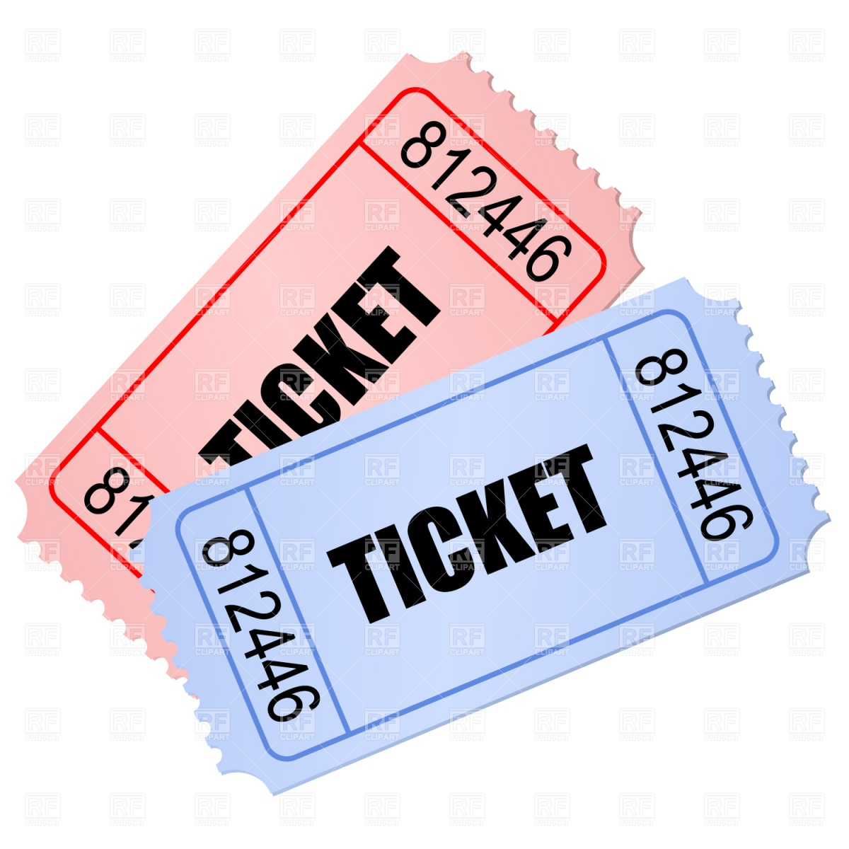 Printable Raffle Ticket Template 2