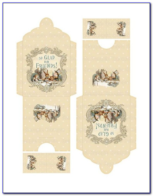 Printable Tea Bag Envelope Templates