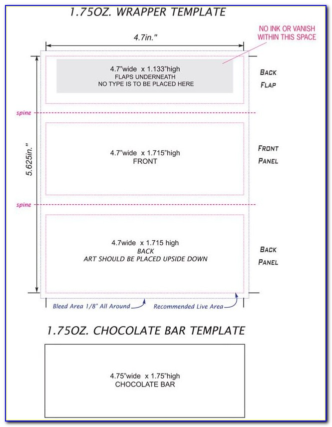Printable Valentine Candy Bar Wrapper Template