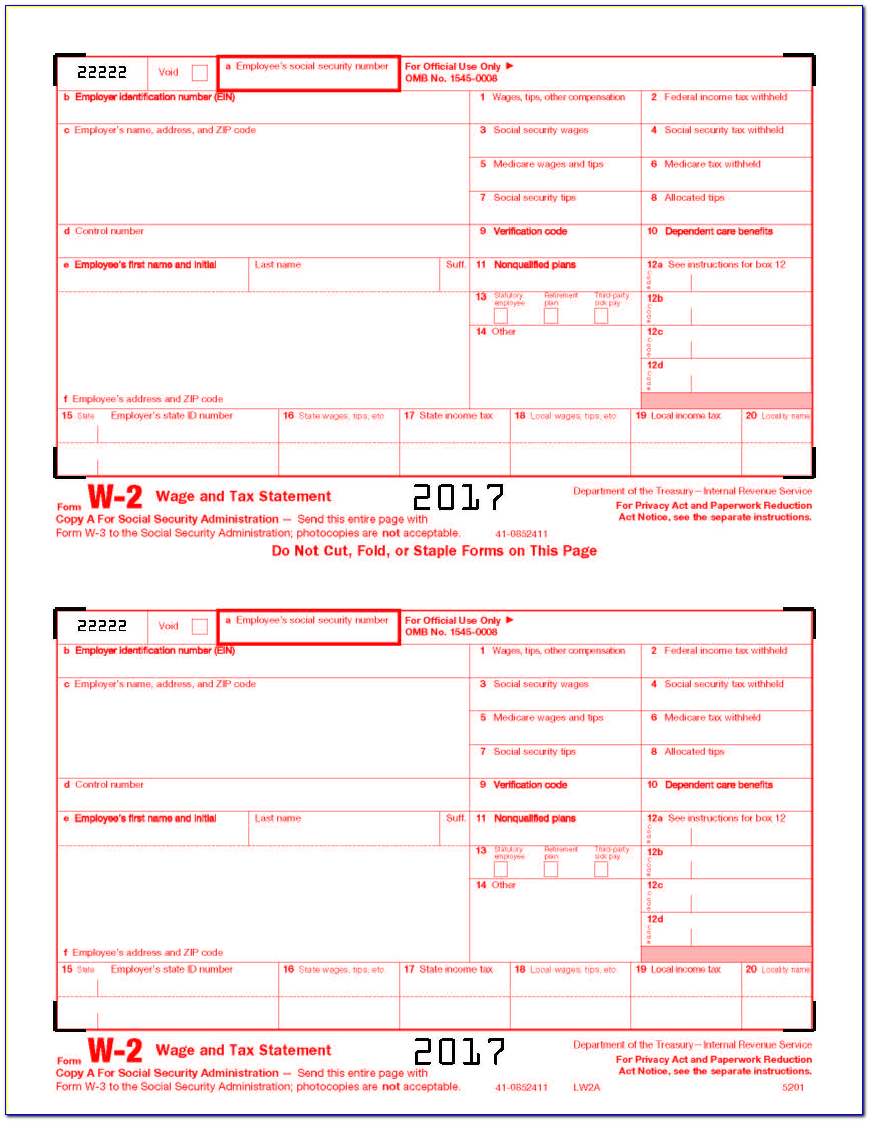 Printing W2 Forms In Quickbooks