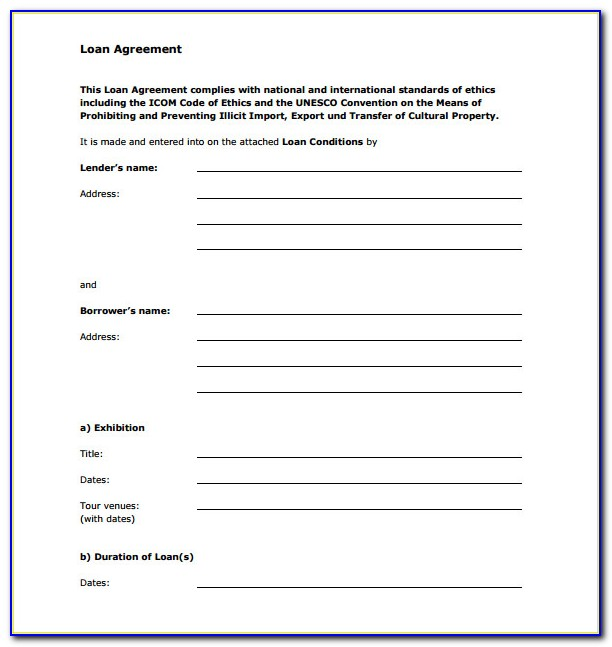 Private Loan Contract Template